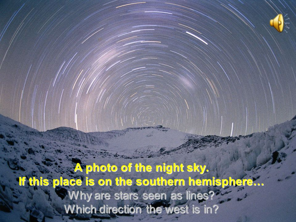 A photo of the night sky.
