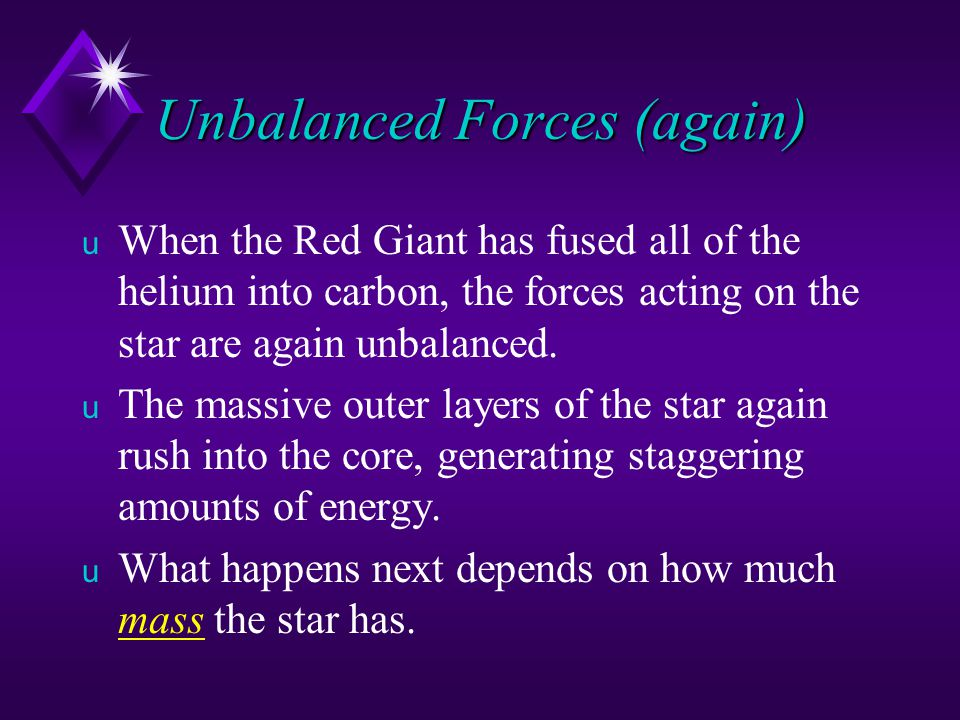 Unbalanced Forces (again)