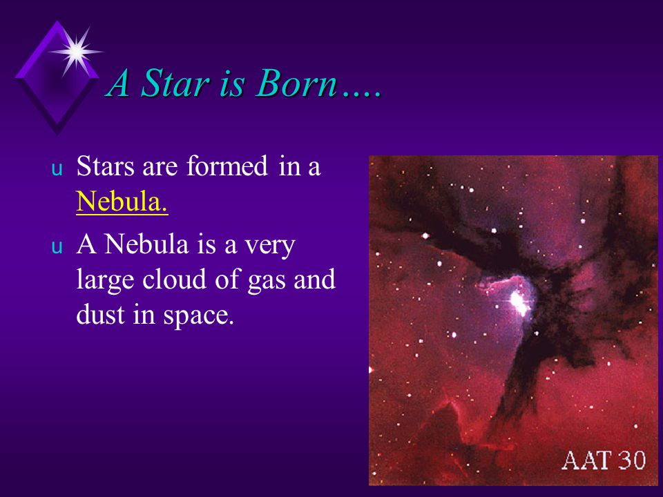 A Star is Born…. Stars are formed in a Nebula.