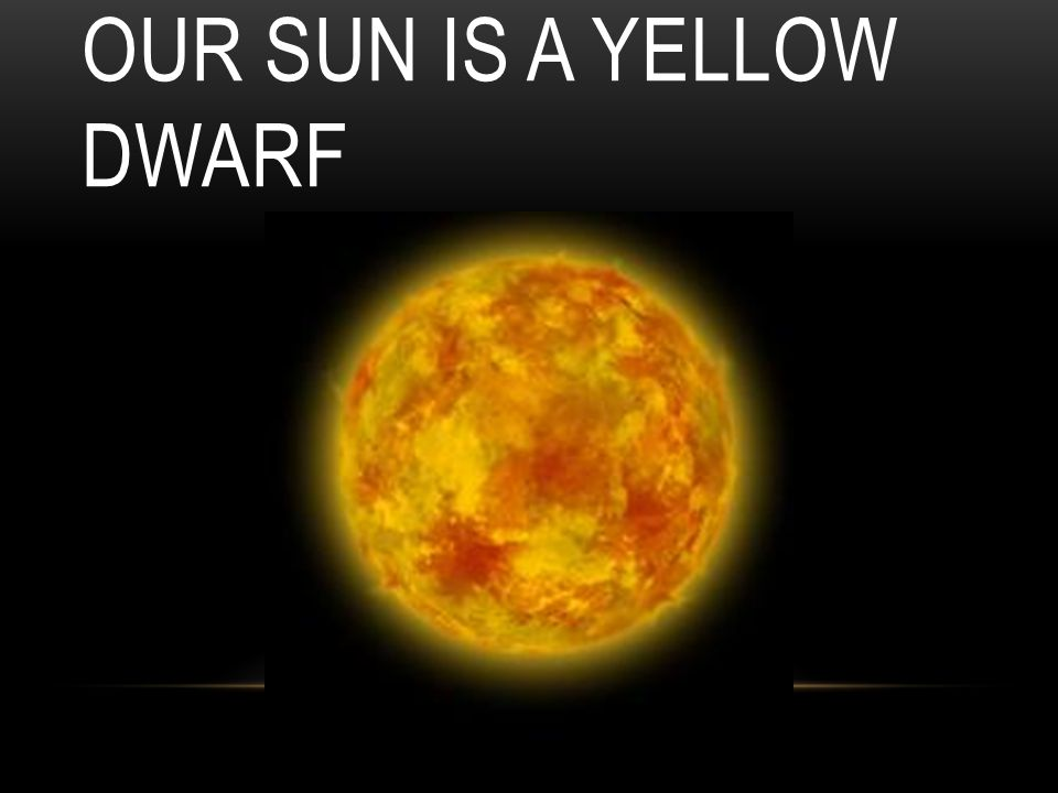 Our Sun is a Yellow Dwarf