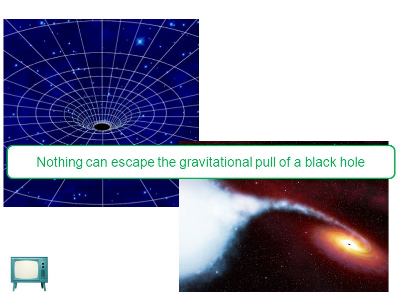 Nothing can escape the gravitational pull of a black hole