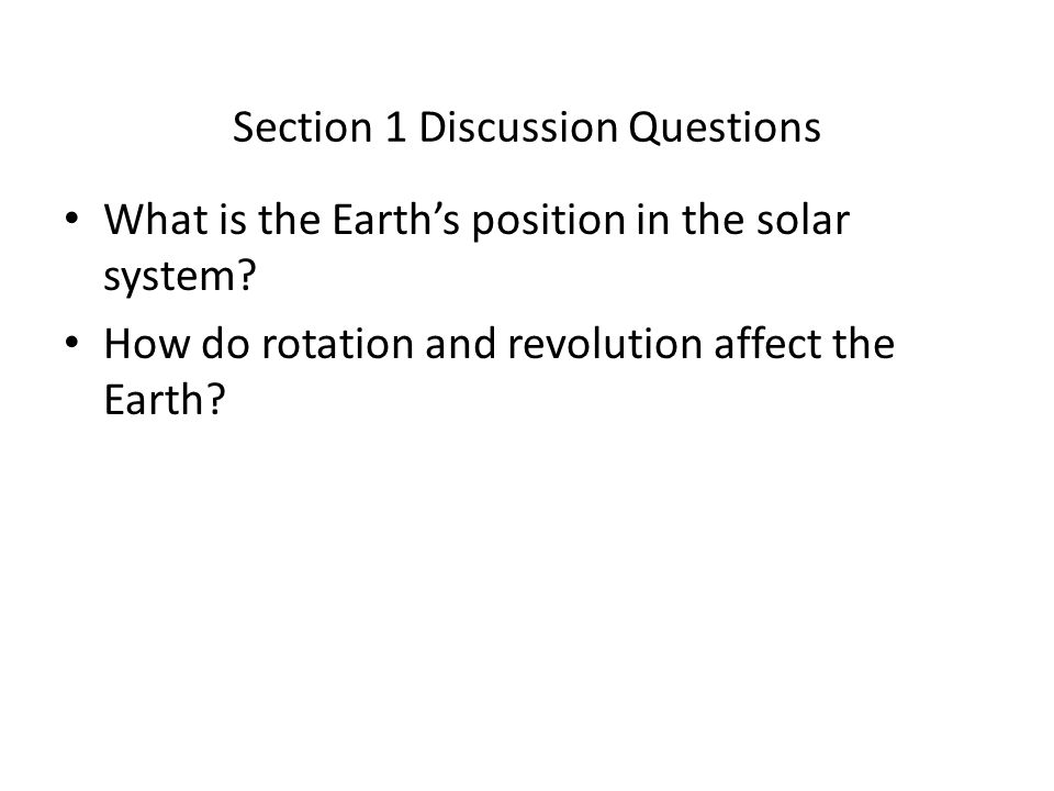 Section 1 Discussion Questions