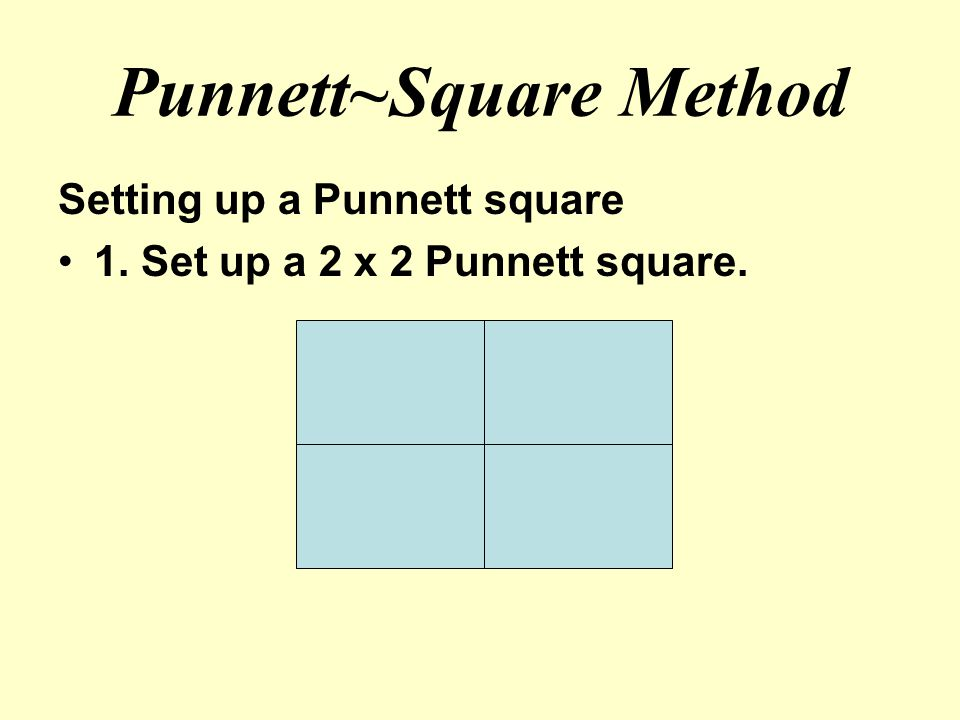 Punnett~Square Method