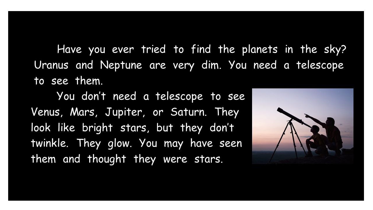 Have you ever tried to find the planets in the sky