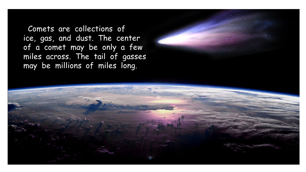 Comets are collections of