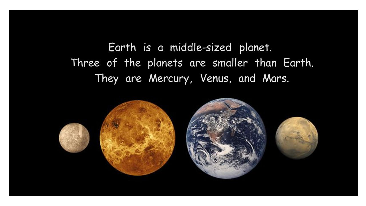 Earth is a middle-sized planet