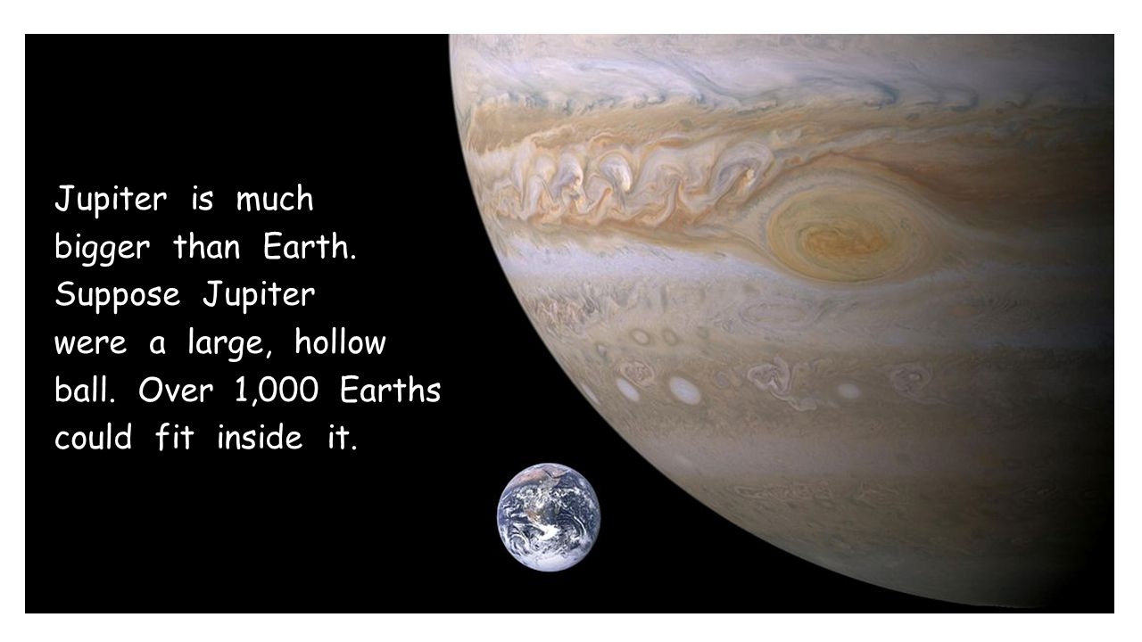 Jupiter is much bigger than Earth