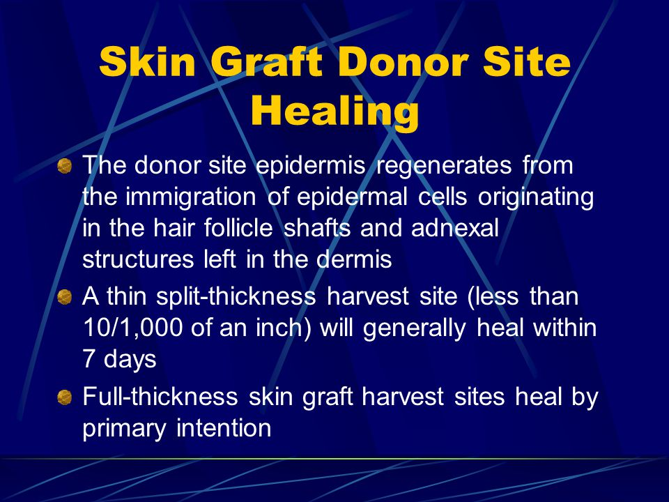 Skin Graft Donor Site Healing