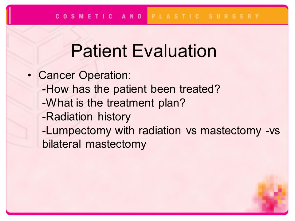 Patient Evaluation Cancer Operation: