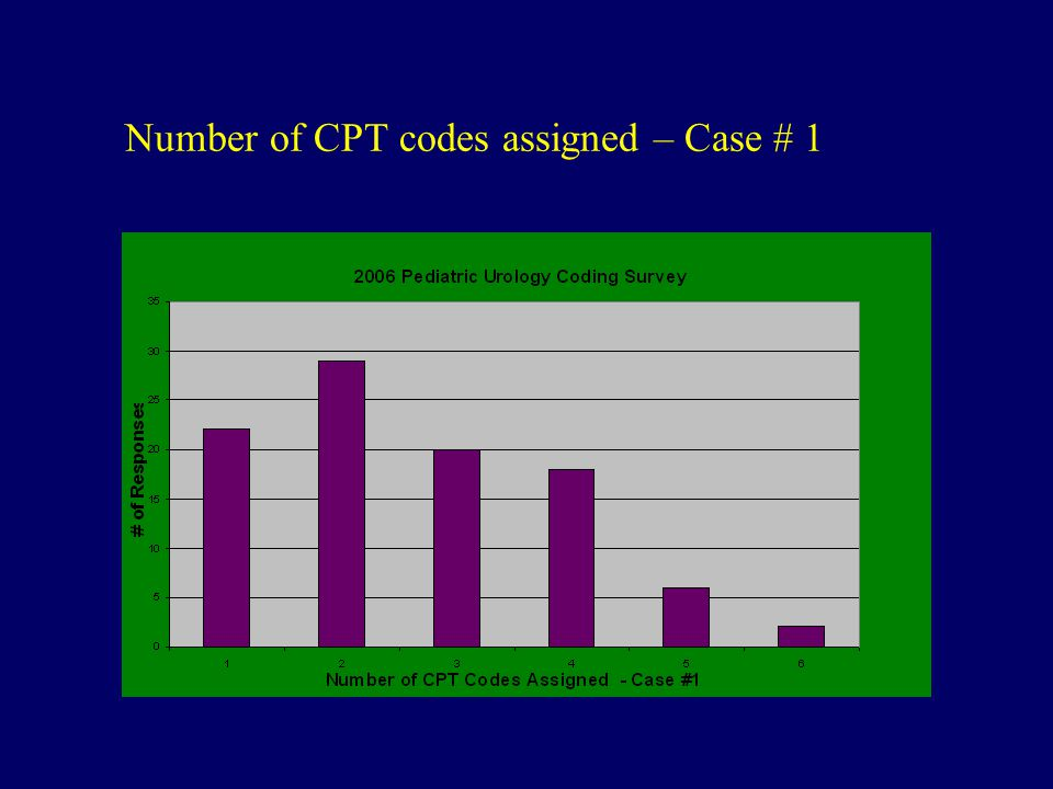 Number of CPT codes assigned – Case # 1