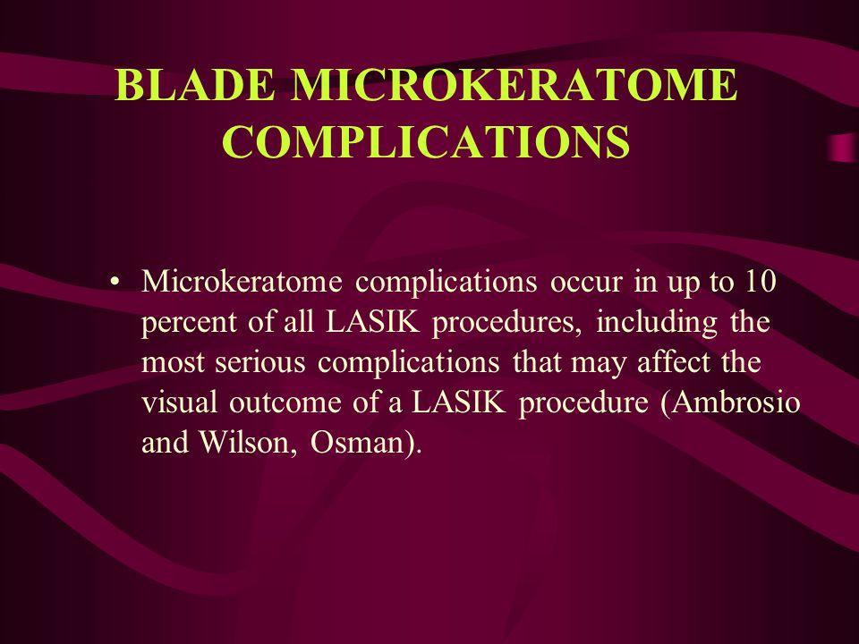 BLADE MICROKERATOME COMPLICATIONS