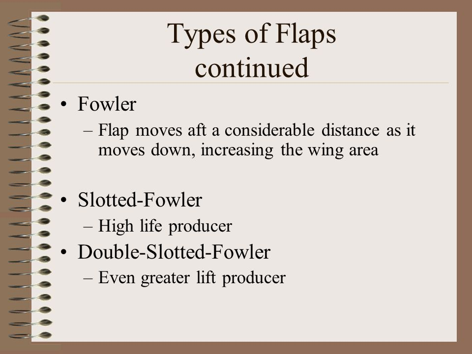 Types of Flaps continued