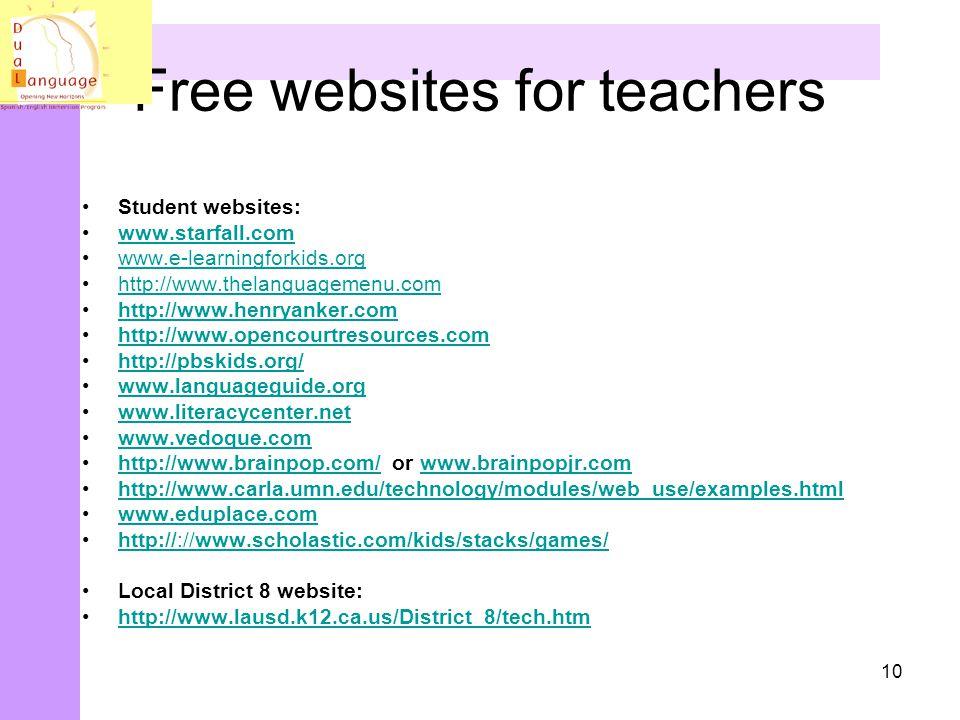 Free websites for teachers