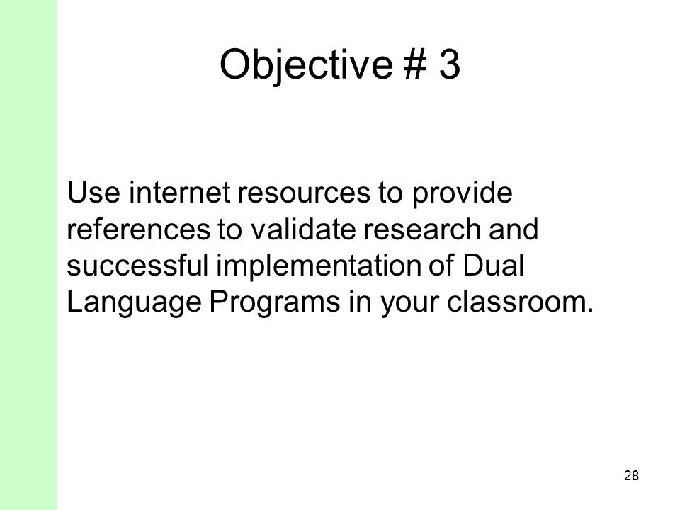 Objective # 3