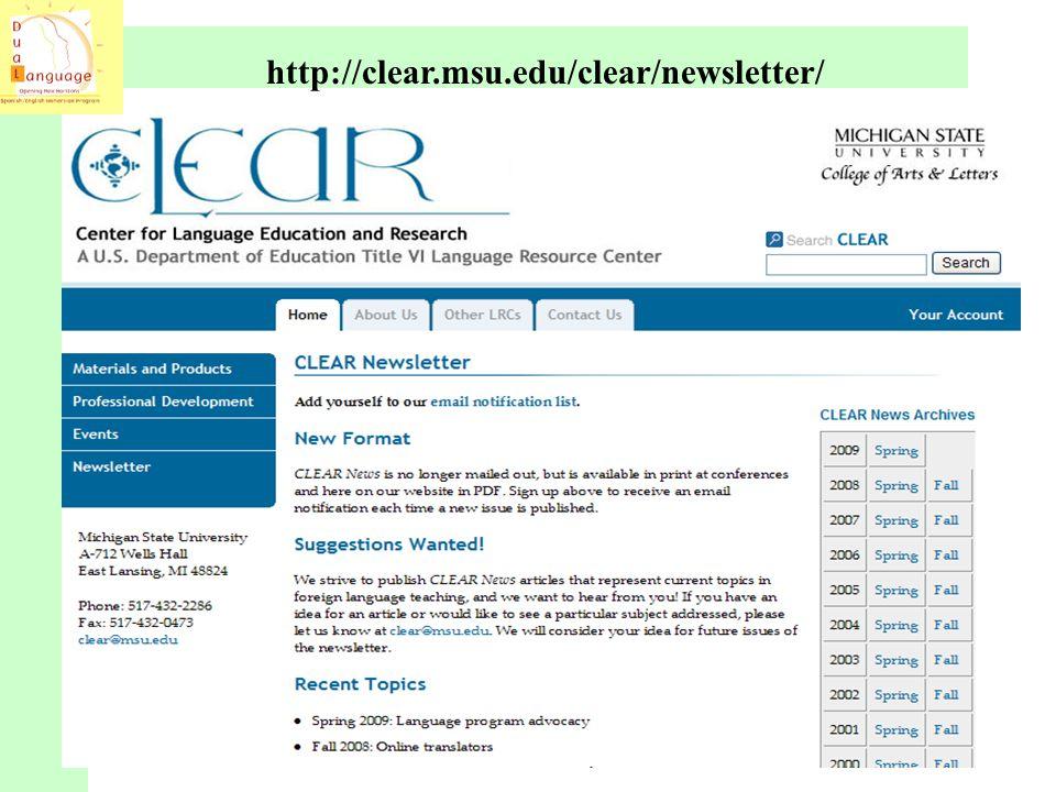 http://clear.msu.edu/clear/newsletter/