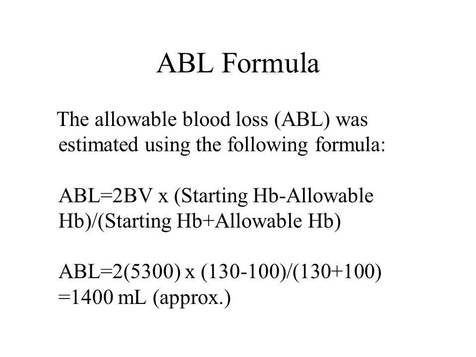 ABL Formula
