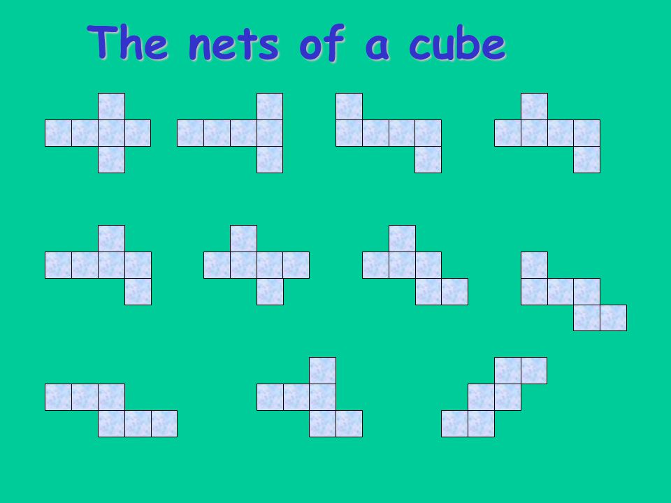 The nets of a cube