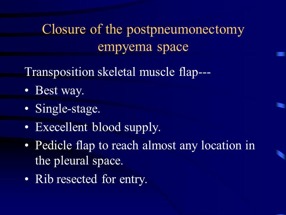 Closure of the postpneumonectomy empyema space