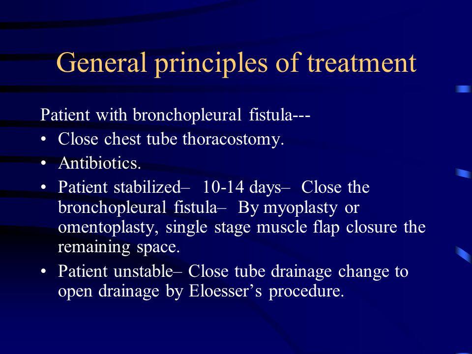 General principles of treatment