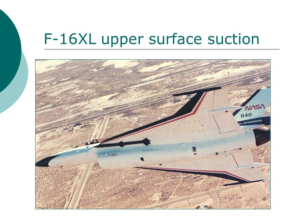 F-16XL upper surface suction