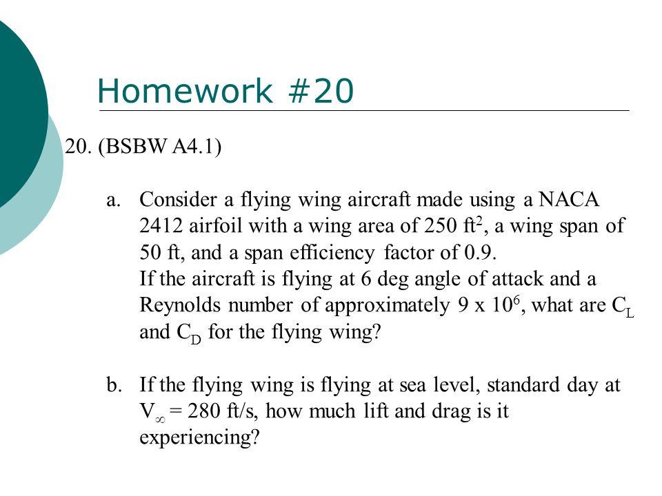 Homework #20 (BSBW A4.1)
