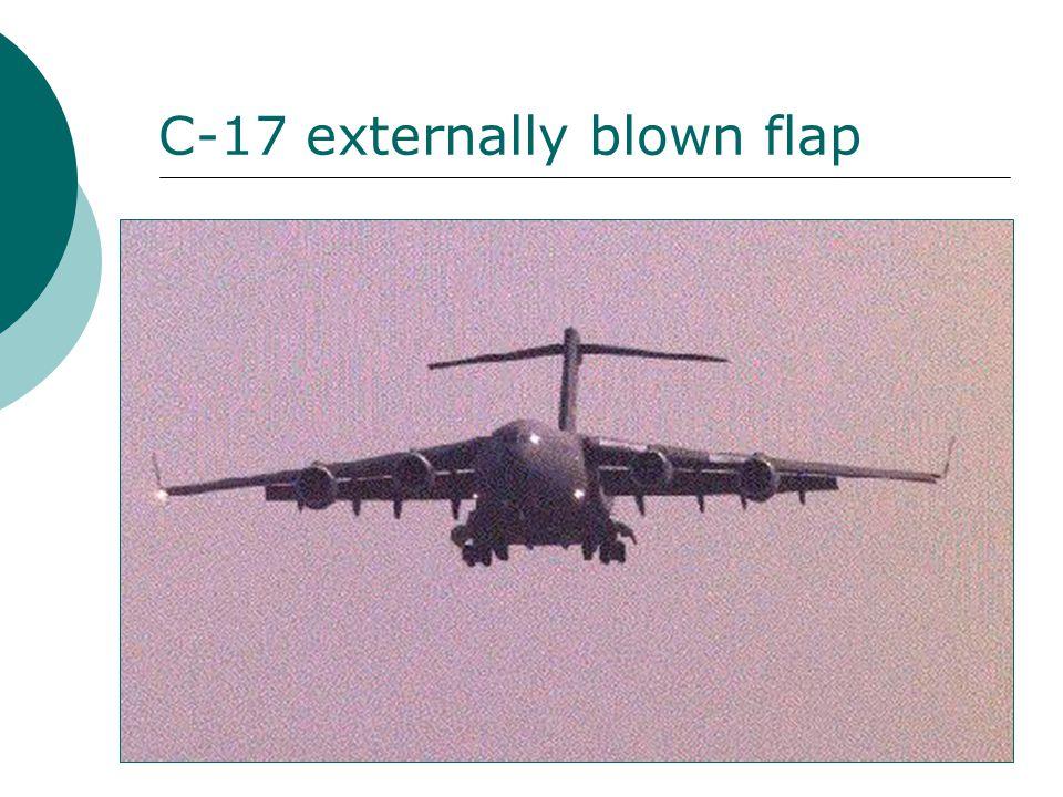 C-17 externally blown flap