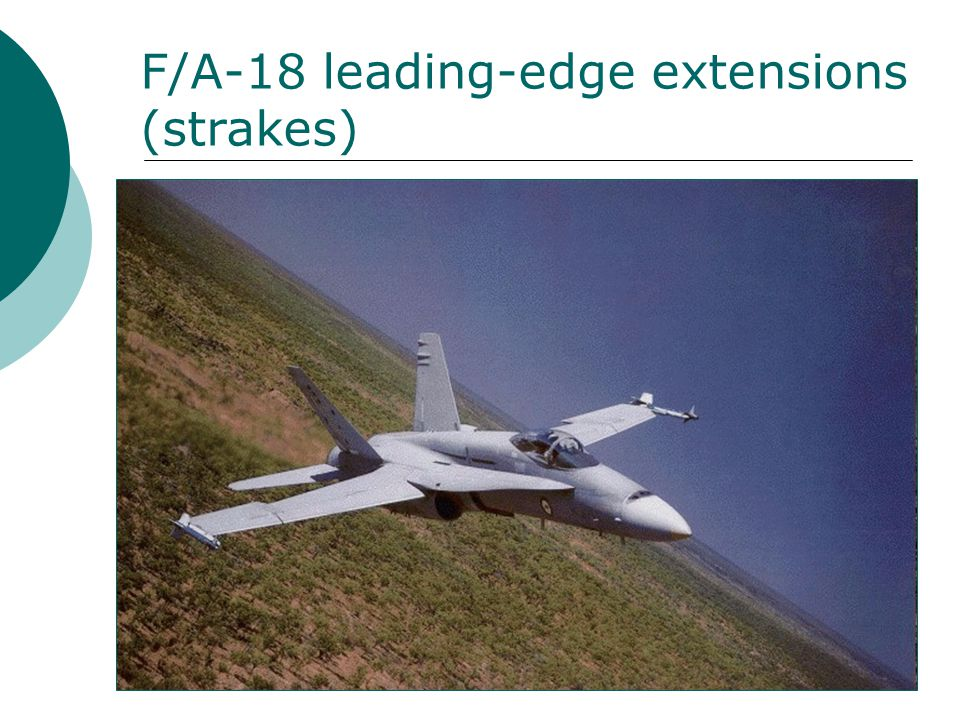 F/A-18 leading-edge extensions (strakes)