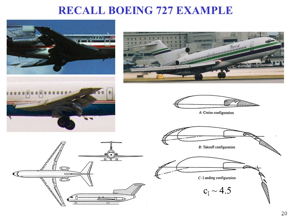 RECALL BOEING 727 EXAMPLE cl ~ 4.5