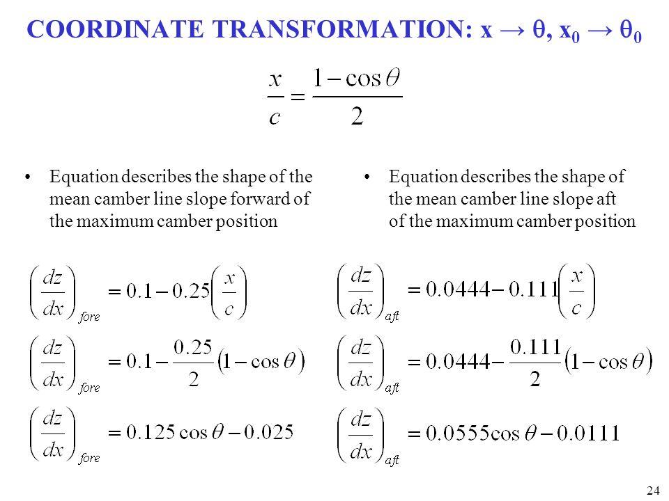 COORDINATE TRANSFORMATION: x → q, x0 → q0