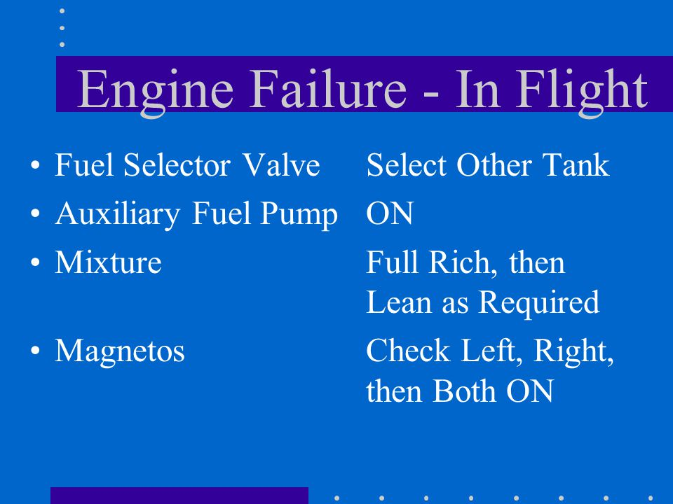 Engine Failure - In Flight