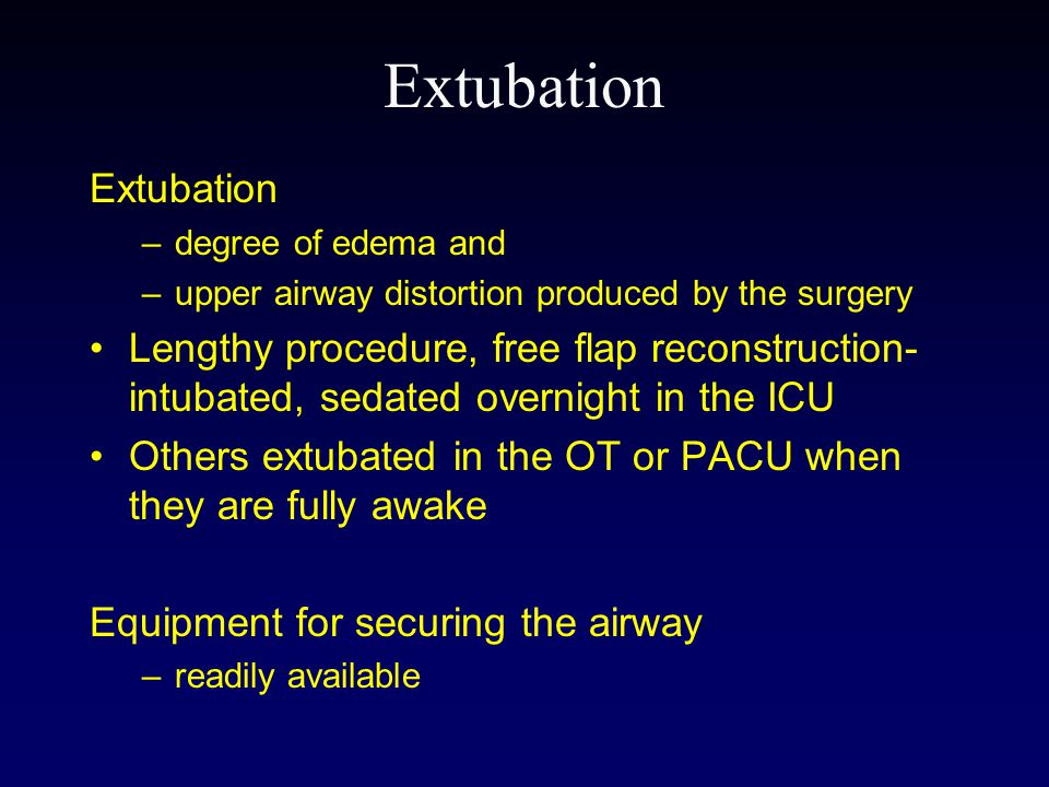 Extubation Extubation