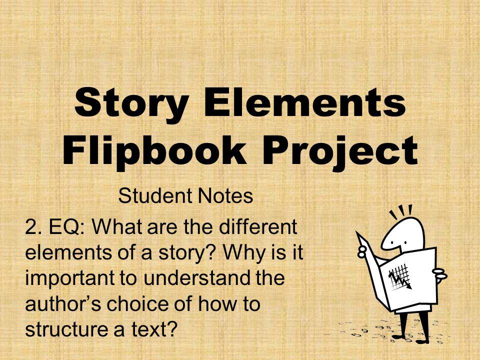 Story Elements Flipbook Project