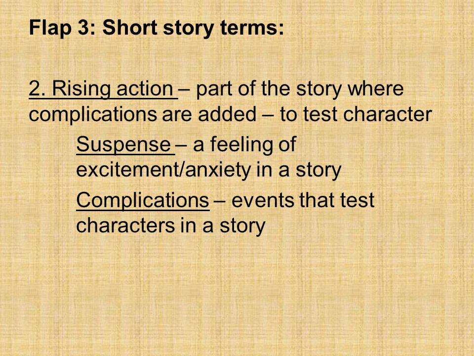 Flap 3: Short story terms: