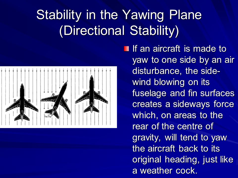 Stability in the Yawing Plane (Directional Stability)