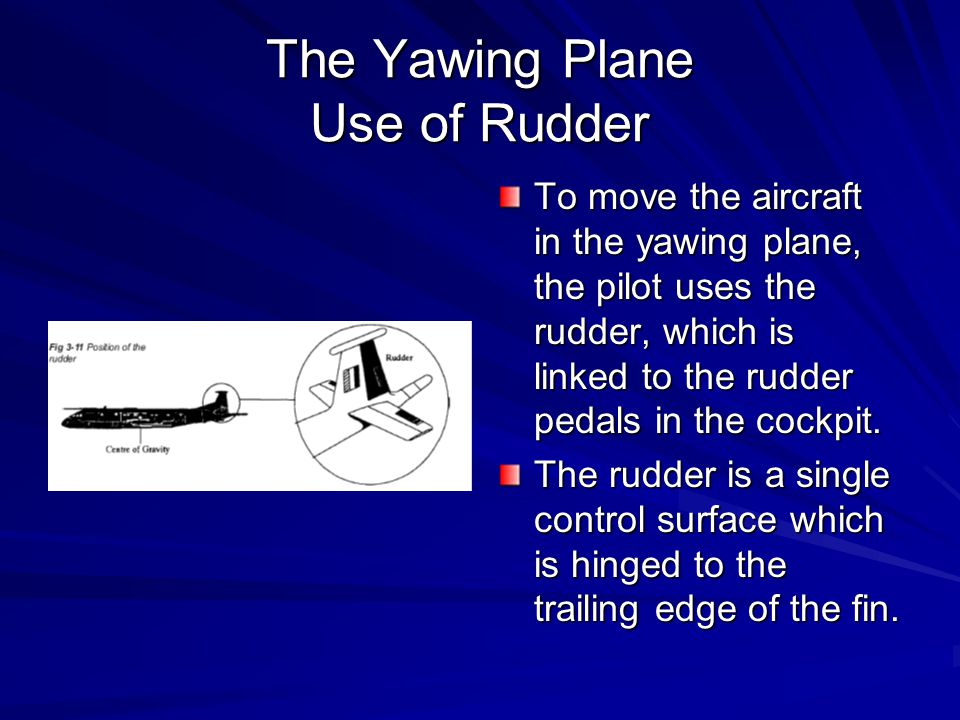 The Yawing Plane Use of Rudder
