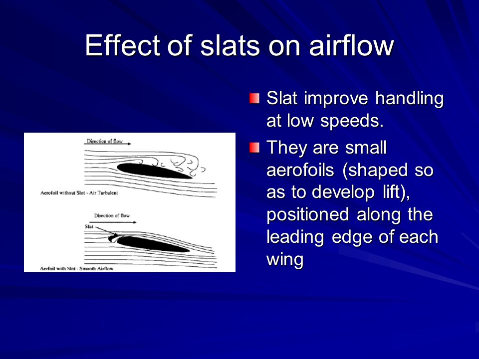 Effect of slats on airflow
