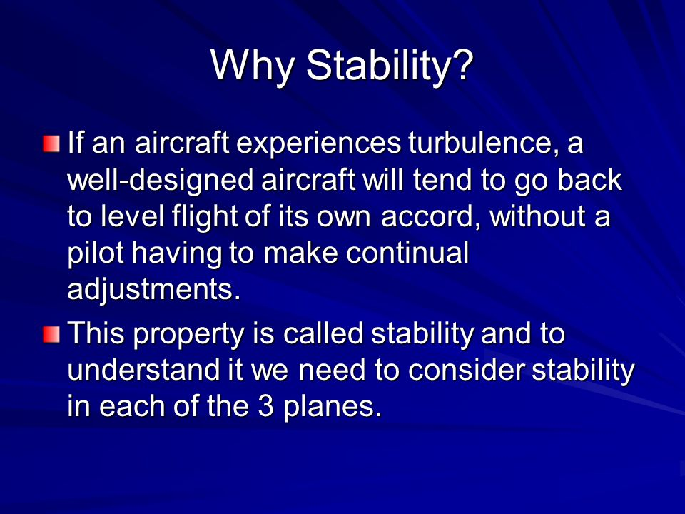 Why Stability