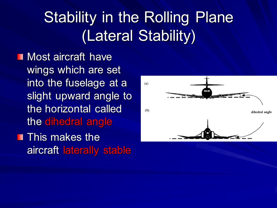 Stability in the Rolling Plane (Lateral Stability)