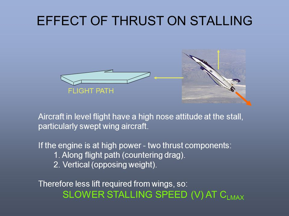 EFFECT OF THRUST ON STALLING
