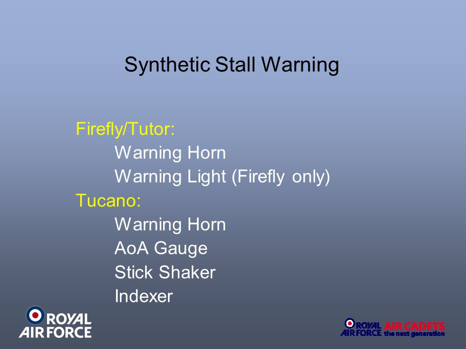 Synthetic Stall Warning