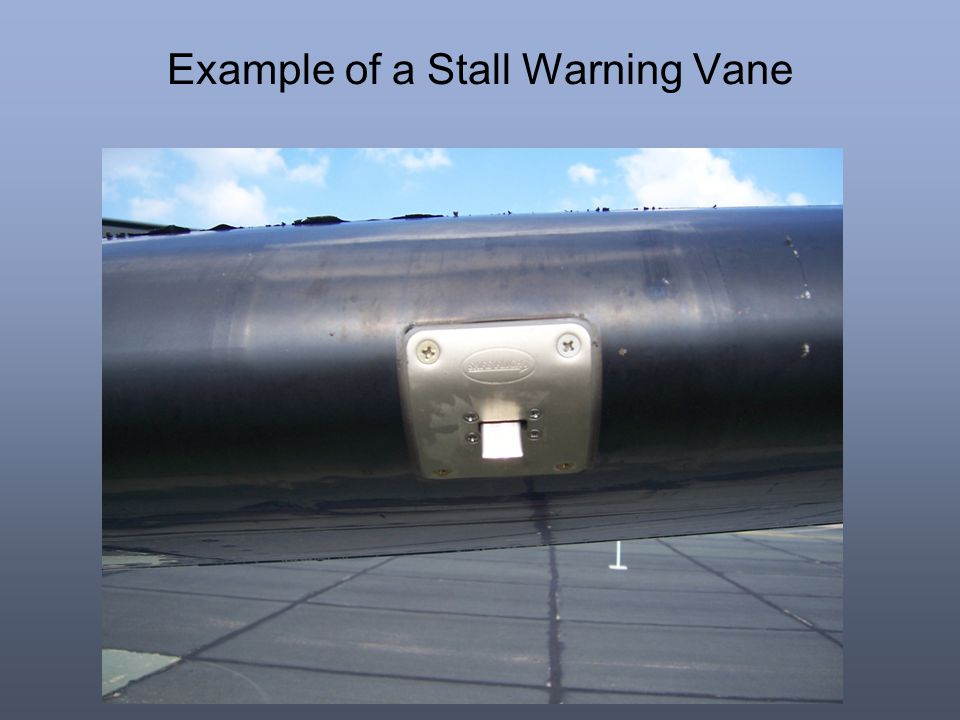 Example of a Stall Warning Vane