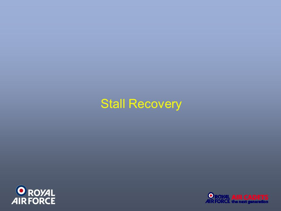 Stall Recovery