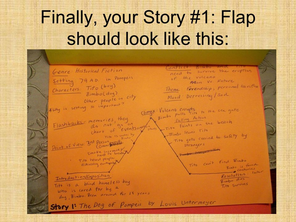 Finally, your Story #1: Flap should look like this: