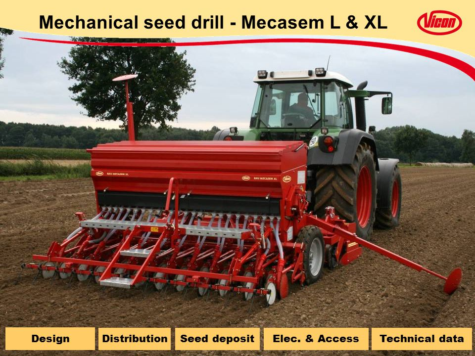 Mechanical seed drill - Mecasem L & XL