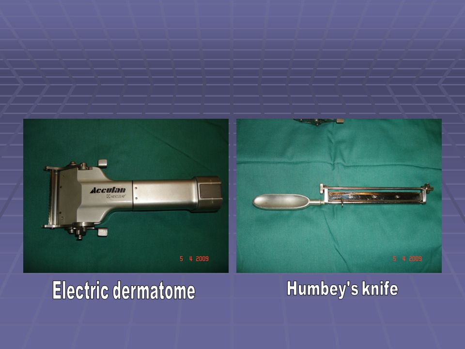 Electric dermatome Humbey s knife