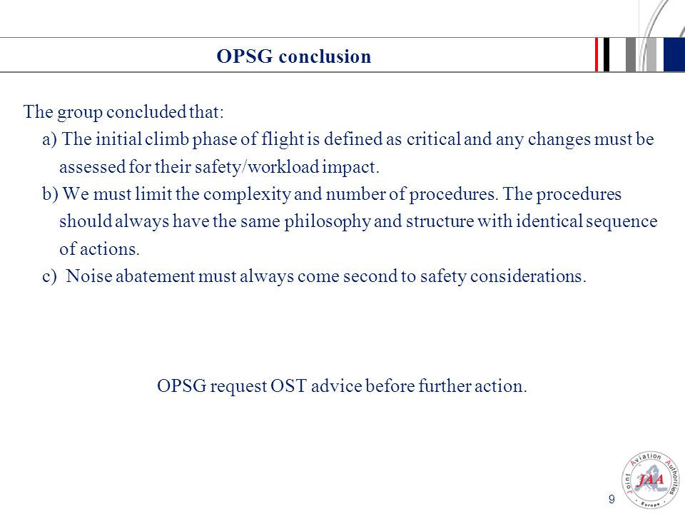 OPSG request OST advice before further action.
