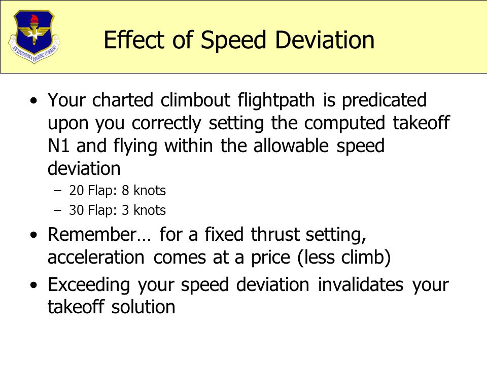 Effect of Speed Deviation
