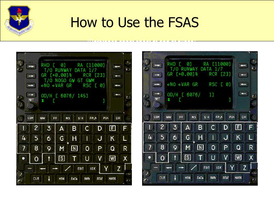 How to Use the FSAS (Reference cheat sheet at end of slides)