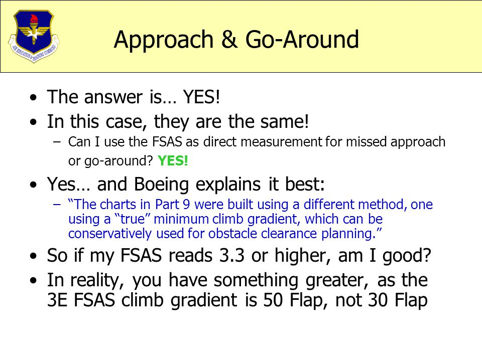 Approach & Go-Around The answer is… YES!