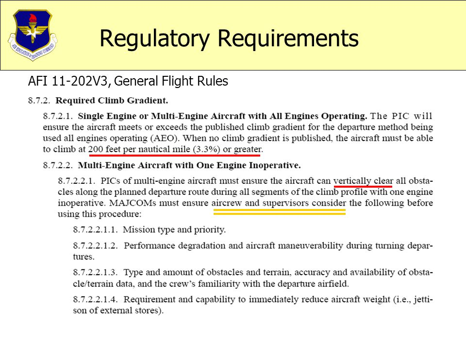 Regulatory Requirements